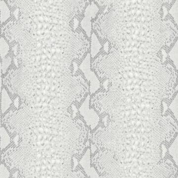 Graham & Brown Snake White/Silver Wallpaper