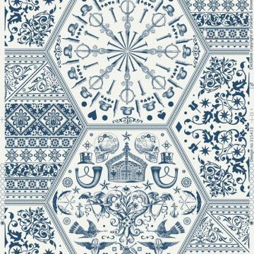 Graham & Brown World Heritage Blue/White Wallpaper