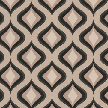 Graham & Brown Trippy Black/Beige Wallpaper