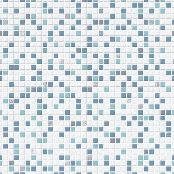 Graham & Brown Checker Blue/White Wallpaper