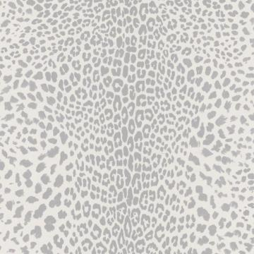 Graham & Brown Leopard White/Grey/Silver Wallpaper
