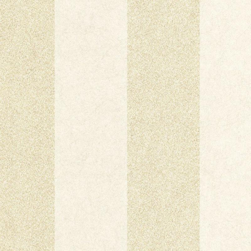 Graham & Brown Artisan Stripe Oyster/Gold Wallpaper