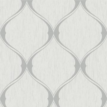 Graham & Brown Ogee Grey Wallpaper