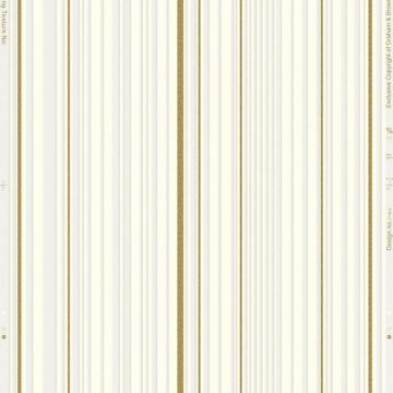 Graham & Brown Maestro Stripe White/Gold Wallpaper