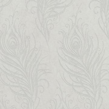Graham & Brown Quill Grey/Silver Wallpaper
