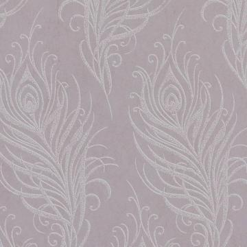 Graham & Brown Quill Mulberry/Silver Wallpaper
