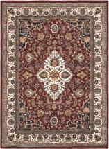 "eCarpet Gallery Medallion Style Burgundy, Cream Machine Made Rug 5'6"" x 7'6"""