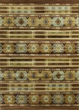 "eCarpet Gallery Ikat Brown  Rug - 5'5"" x 7'8"""