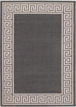 "eCarpet Gallery Knossos Black, Light Gray Power Loomed Rug 5'3"" x 7'7"""