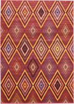 "eCarpet Gallery Chroma Diamond Red Rug - 5'5"" x 7'9"""