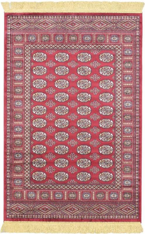 "eCarpet Gallery Soraya Silko Dark Red  Rug - 3'1"" x 4'7"""