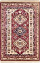 "eCarpet Gallery Shiravan Cream, Red Power Loomed Rug 5'1"" x 7'7"""