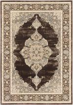 "eCarpet Gallery Shahrzad Kerman Cream Dark Brown Rug - 7'10"" x 11'2"""
