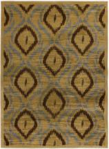 "eCarpet Gallery Ikat Light Brown  Rug - 5'5"" x 7'8"""