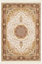 "eCarpet Gallery Hand loomed King David White Silk Rug - 5'3"" x 7'7"""