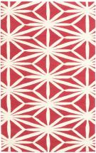 "eCarpet Gallery Baroque Cream, Red Hand Tufted Rug 5'0"" x 8'0"""