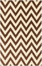 "eCarpet Gallery Monaco Cream, Dark Brown Hand Tufted Rug 5'0"" x 8'0"""
