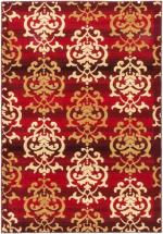 "eCarpet Gallery Crown Red Power Loomed Rug 5'3"" x 7'7"""