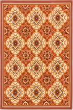 "eCarpet Gallery Tropicana Cream Dark Copper  Rug - 4'11"" x 7'5"""