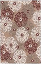 "eCarpet Gallery Portico Beige, Dark Red Power Loomed Rug 4'0"" x 6'0"""