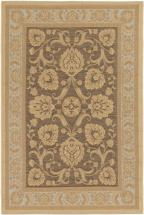 "eCarpet Gallery Versailles Antique Dark Brown Light Yellow Rug - 6'4"" x 9'1"""