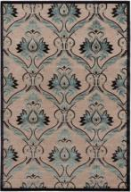 "eCarpet Gallery Alhambra Dark Navy, Light Gray, Turquoise Power Loomed Rug 5'3"" x 7'6"""
