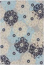 "eCarpet Gallery Portico Gray, Light Blue Power Loomed Rug 4'0"" x 6'0"""