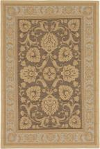 "eCarpet Gallery Versailles Antique Dark Brown Light Yellow Rug - 4'9"" x 7'3"""