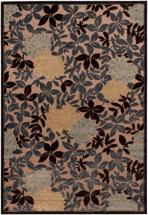 "eCarpet Gallery Dartmouth Beige, Dark Brown, Dark Gray Power Loomed Rug 5'3"" x 7'6"""