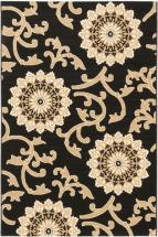 "eCarpet Gallery Verandah Black, Khaki Machine Made Rug 6'7"" x 9'4"""