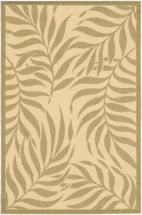 "eCarpet Gallery Ankara Cream, Dark Dull Yellow Machine Made Rug 6'7"" x 9'4"""
