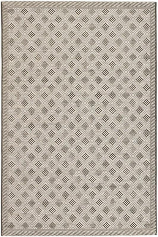 "eCarpet Gallery Ankara Black, Light Gray Machine Made Rug 3'3"" x 4'9"""
