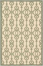 "eCarpet Gallery Ankara Cream, Teal Machine Made Rug 4'11"" x 7'5"""