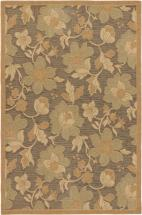"eCarpet Gallery Versailles Antique Dark Brown, Light Brown Power Loomed Rug 4'9"" x 7'3"""