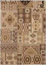 "eCarpet Gallery Portico Brown Cream Rug - 5'3"" x 7'7"""