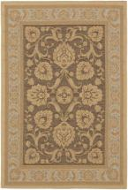 "eCarpet Gallery Versailles Antique Dark Brown Light Yellow Rug - 3'3"" x 4'8"""