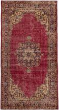 "eCarpet Gallery Hand-knotted Anatolian Revival Dark Red  Rug - 3'8"" x 6'11"""