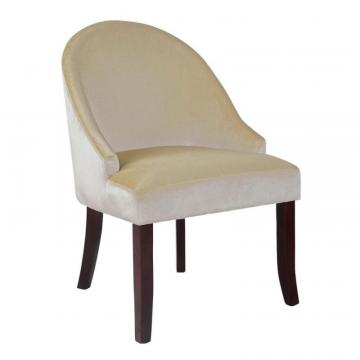 Corliving Antonio Accent Chair In Soft Cream Velvet