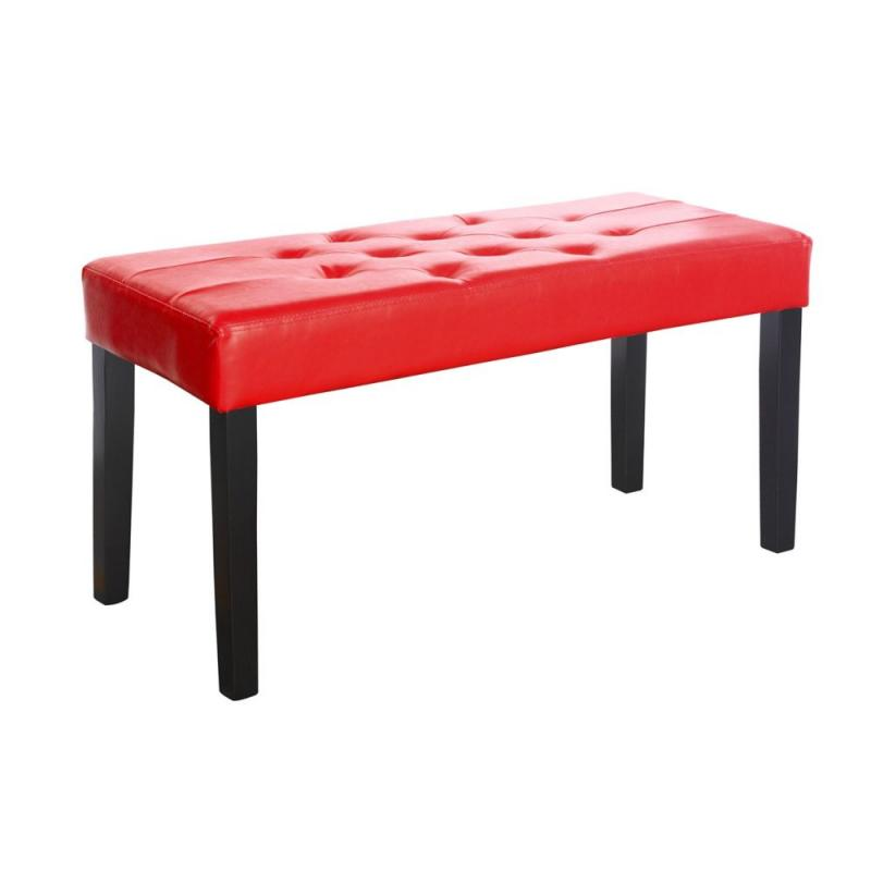 Corliving Fresno 12 Panel Bench In Red Leatherette