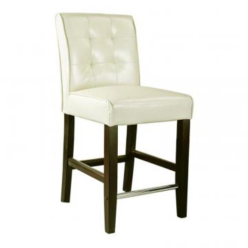 Corliving Antonio Counter Height Barstool In Cream White Bonded Leather