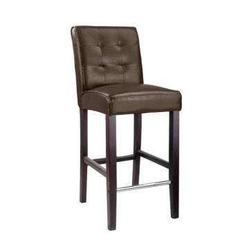 Corliving Antonio Bar Height Barstool In Dark Brown Bonder Leather
