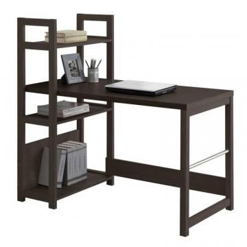 Corliving Folio Black Espresso Bookshelf Styled Desk
