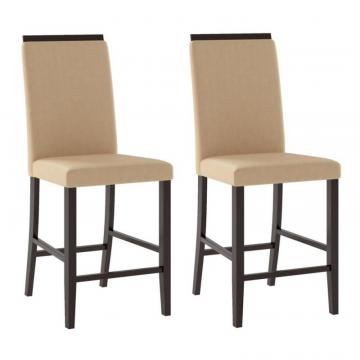 Corliving Bistro Dining Chairs In Desert Sand Fabric, Set Of 2