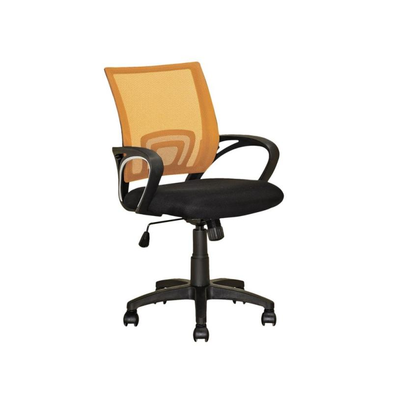 Corliving Workspace Orange Mesh Back Office Chair