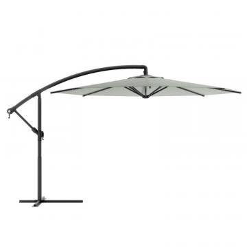 Corliving Offset Patio Umbrella in Sand Grey