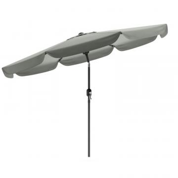 Corliving Tilting Patio Umbrella In Sand Gray