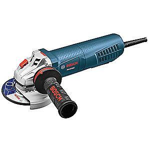 "Bosch 8-Amp Paddle-Switch Angle Grinder with 4-1/2"" Wheel Dia."