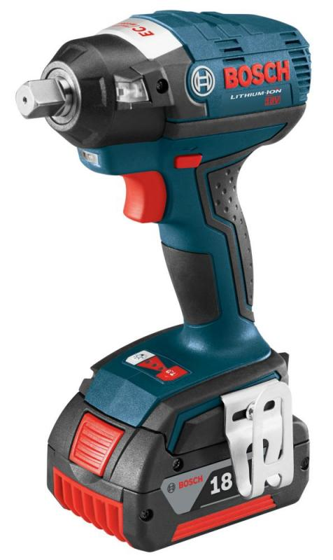 "Bosch 18 V EC Brushless 1/2"" Square Drive Impact Wrench with Detent Pin"