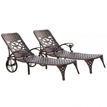 Home Styles Biscayne Bronze Chaise Lounge Chairs (2)