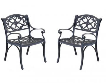 Home Styles Arm Chair Pair Black Finish